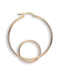 Double Hoop Gold Earrings ER1330