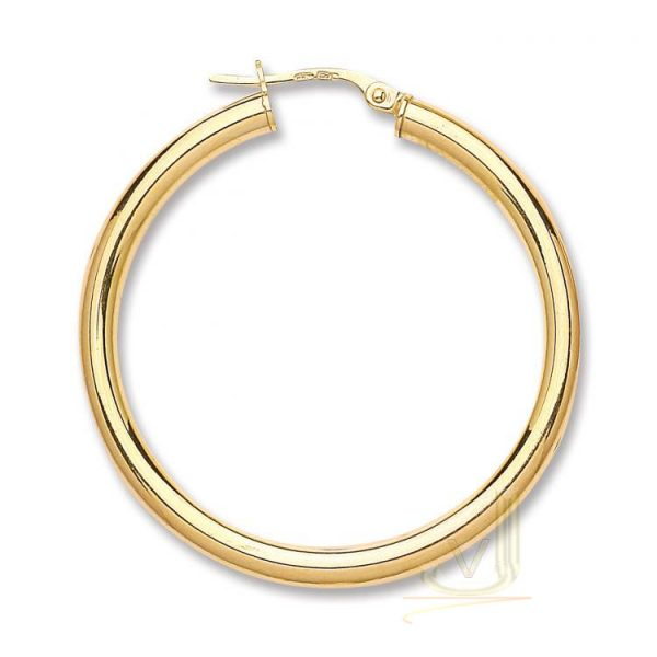 9ct Gold Creoles Earrings ER1442