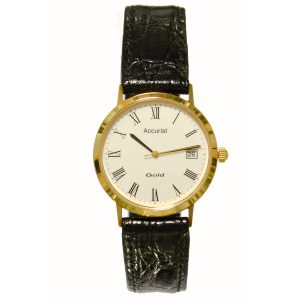GD1312 Accurist 9ct Gold Mens Watch