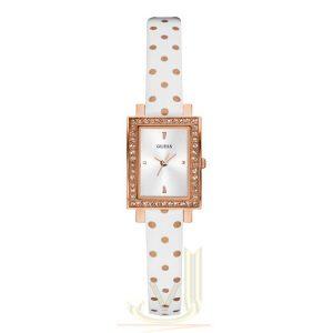 GUESS Laila Ladies white strap watch W0734L3