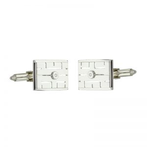 18ct White Gold Diamond Cuff-links CUFDIAVJ
