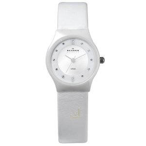 233XSCLW Skagen White Ceramic Ladies Watch