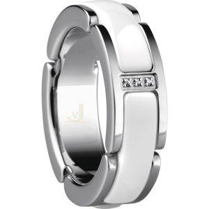 Bering Time 502-15-X5 Ladies Ceramic Link Ring