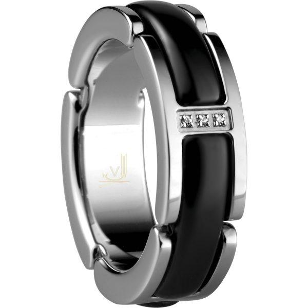 Bering Ceramic Link Ring 502-16-X5