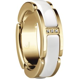 Bering Time 502-25-X5 Ladies Ceramic Link Ring