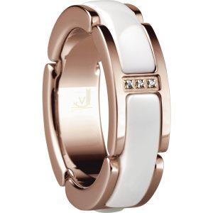 Bering Time 502-35-95 Ladies Ceramic Link Ring