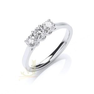 DR0902 Certificated Diamond Trilogy Ring