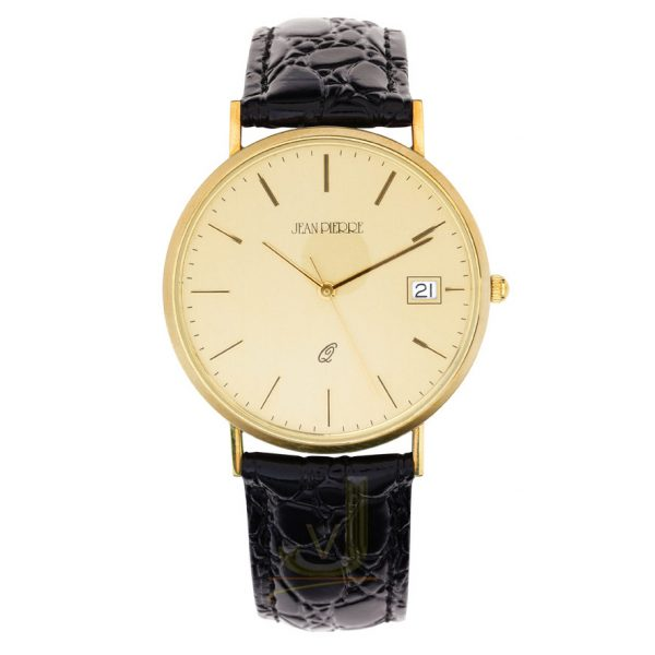 9G202 Jean Pierre 9 Carat Gold Gents Watch
