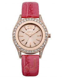 B1298 Oasis Ladies pink Croc Strap Watch