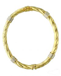 9ct Gold Twisted Bangle BN0117