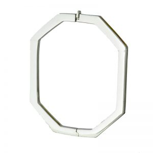 BN271 Fancy 9ct White Gold Octagon Bangle