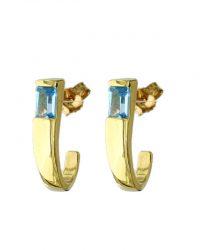 Blue Topaz fancy Earrings 1BTVJER