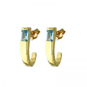 Blue Topaz fancy Earrings 1BTVJER