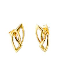 18ct Gold Leaf Earrings CHP034ER
