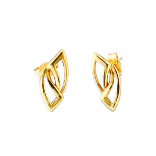 18ct Gold Leaf Earrings CHP034ER