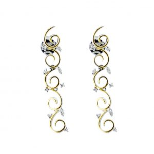 CHP126EARRINGS 18ct gold Swirl Diamonds Earrings