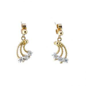 CHP35EARRINGS 9ct gold Trilogy Diamonds Earrings