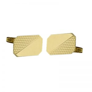 9ct Solid Gold Engine Turned Cuff-links CUFMEVJ1