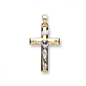 CX0197 Gold catholic INRI Scroll Crucifix