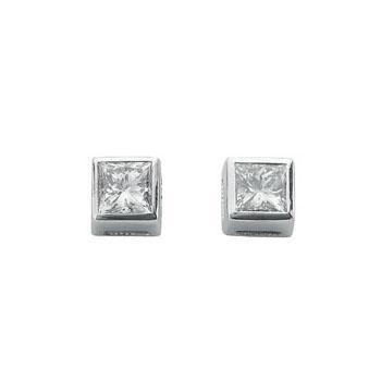 Princess Cut Diamond Studs DER0058