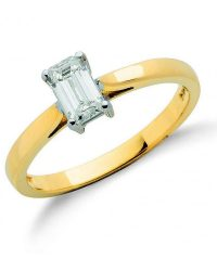 Emerald Cut diamond ring DR0389