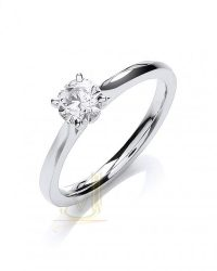 Certificated Diamond Solitaire Ring DR0891