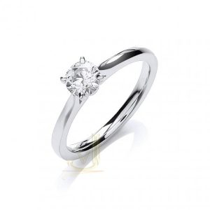 DR0891 Certificated Diamond Solitaire Ring