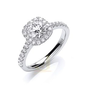 DR0900 Certificated Diamond Engagement Ring
