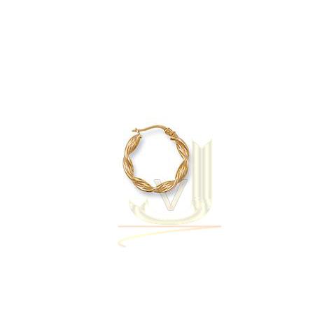 Gold Twisted Hoop Earrings ER0024