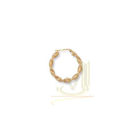 Gold Twisted Hoop Earrings ER0025
