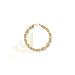 ER0026 9ct Gold Twisted 35mm Hoop Earrings
