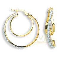 Gold Fancy Hoop Earrings ER1353