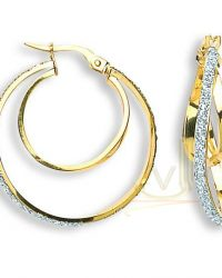 Gold Fancy Hoop Earrings ER1353