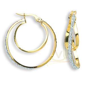 ER1353 9ct Gold Fancy Hoop Earrings