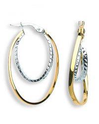 Gold Fancy Hoop Earrings ER1354