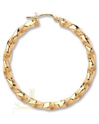 Gold Twisted Hoop Earrings ER1455
