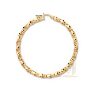 ER1456 9ct Gold Twisted Hoop Earrings