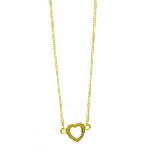 GCC1218 9ct Gold silhouette Heart Pendant plus Chain