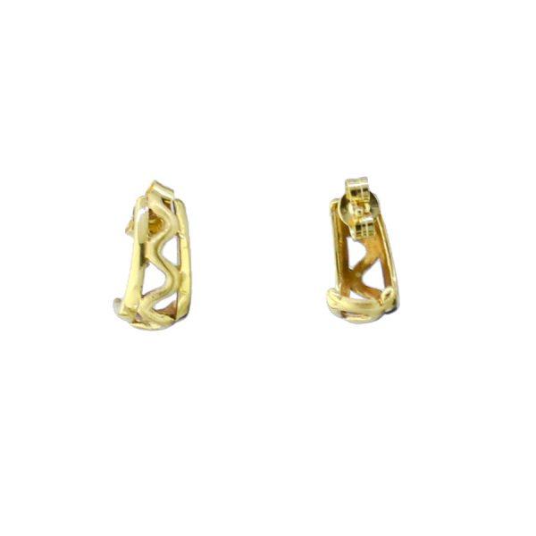 18ct Gold Wave Earrings GM909ER