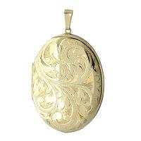 Gold Large Oval Locket LK0064