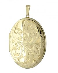 Gold Large Oval Locket LK0064