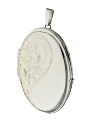White Gold Large Oval Locket LK0065