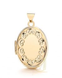 9ct Gold Fancy Oval Locket LK0144