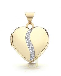 Heart Locket Plus Diamond LK0161