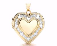 9ct Gold Fancy Heart Locket LK0171