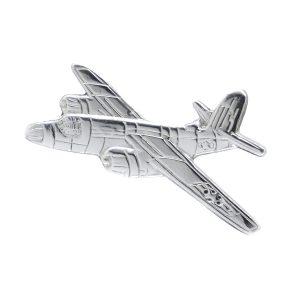 Silver Martin B-26 Maraude brooch Pin