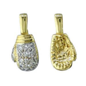 PD046 9ct Gold Boxing Glove Pendant