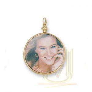 PD235 9ct Yellow Gold 40 mm Picture Locket