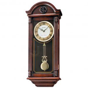 QXH012B Seiko Wooden Longcase Wall Clock