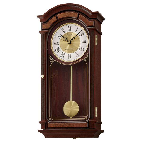 QXH038B Seiko Wooden Longcase Wall Clock